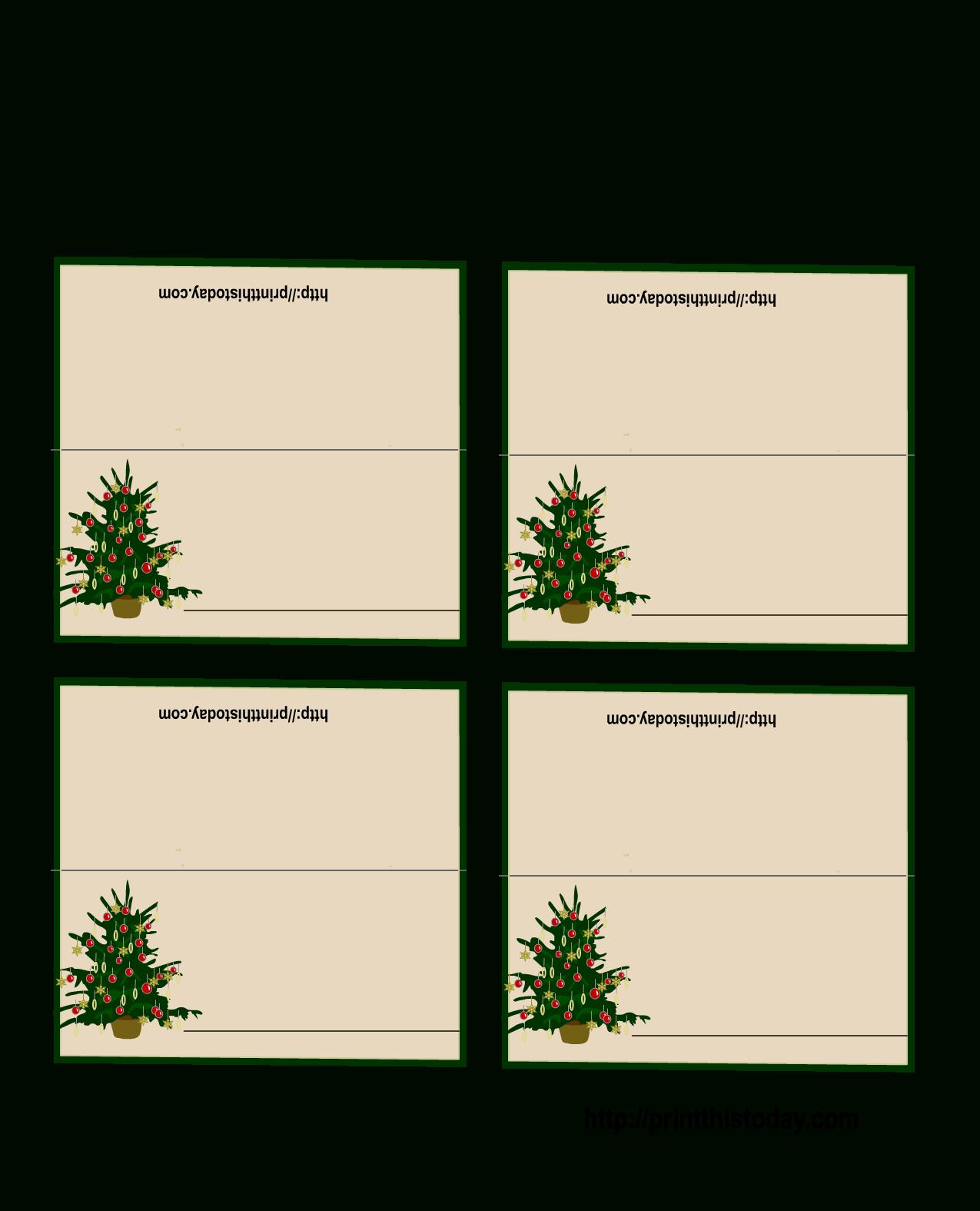 Free Printable Christmas Tree Place Cards | *+* Free Holiday - Christmas Table Name Cards Free Printable