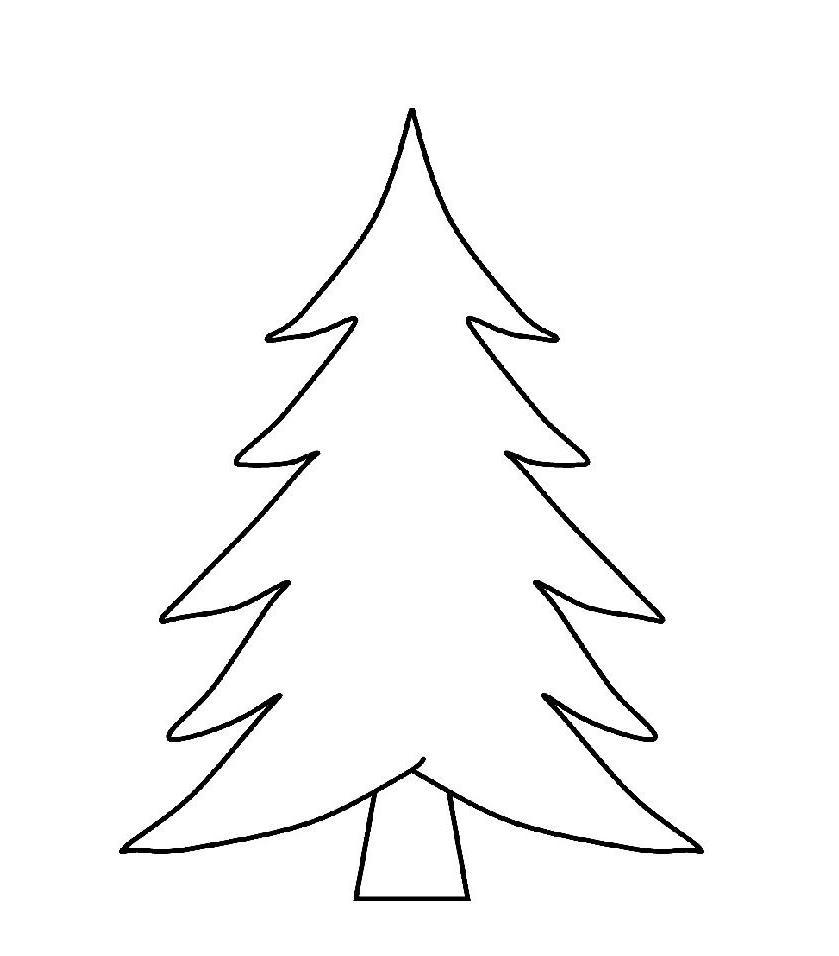 Free Printable Christmas Tree Templates Best Of Color Page - Saglik - Free Printable Christmas Tree Template