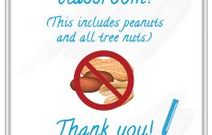 Printable Peanut Free Classroom Signs