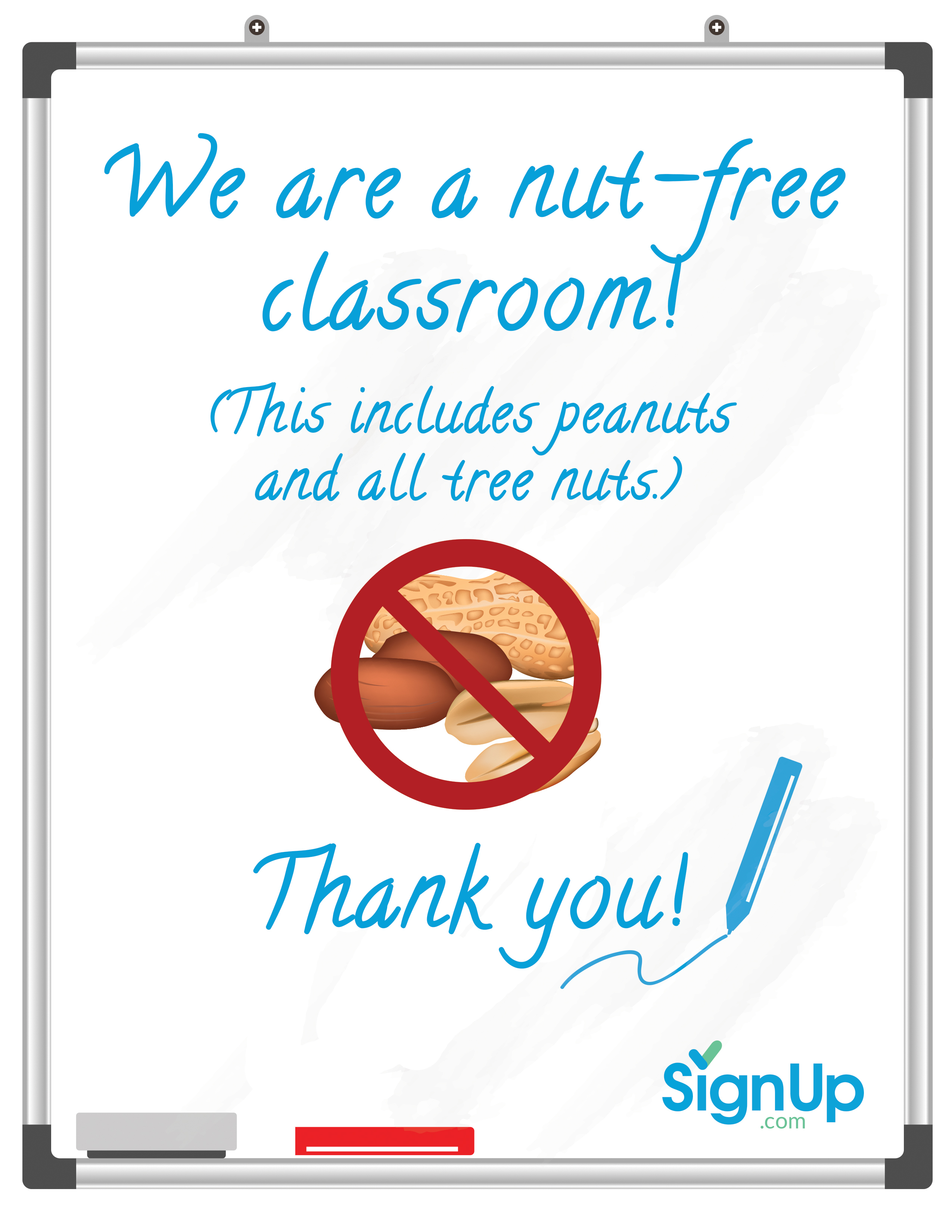 Free Printable Classroom Signs | Signup - Printable Peanut Free Classroom Signs