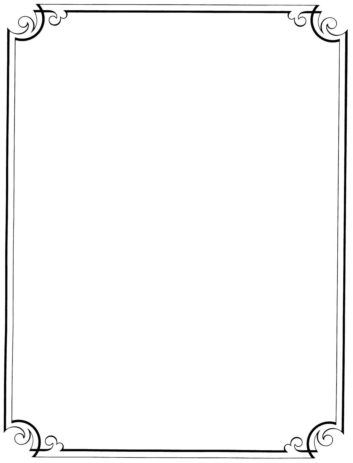 Free Printable Clip Art Borders    : Free Vintage Clip Art - Free Printable Borders