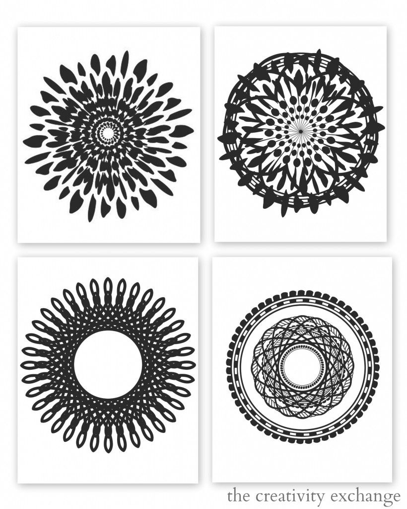Free Printable Collection Of Modern Black And White Prints | Free - Free Black And White Printable Art