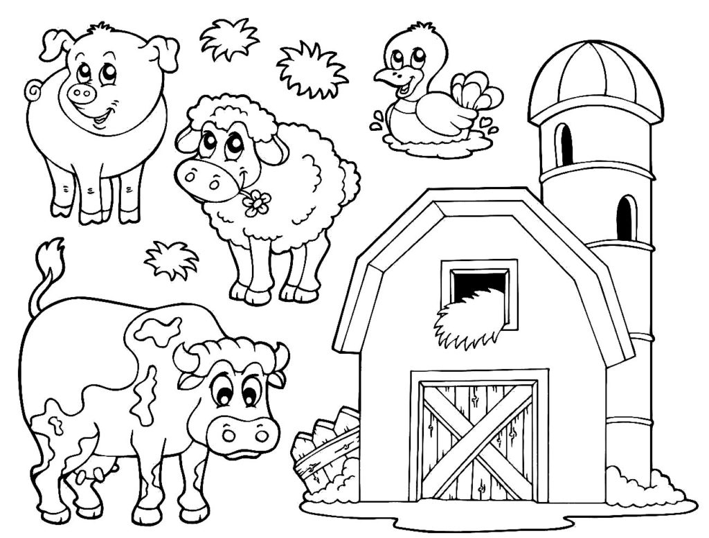 Free Printable Coloring Pages Farm Animals 10 #17345 - Free Printable Farm Animal Pictures