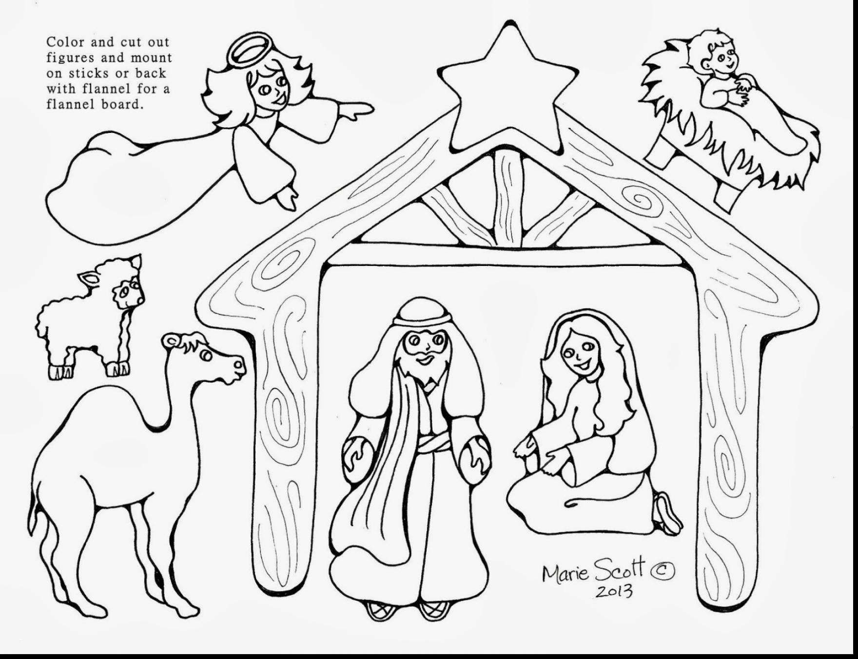Free Printable Coloring Pages Of Nativity Scene Printable Coloring - Free Printable Pictures Of Nativity Scenes