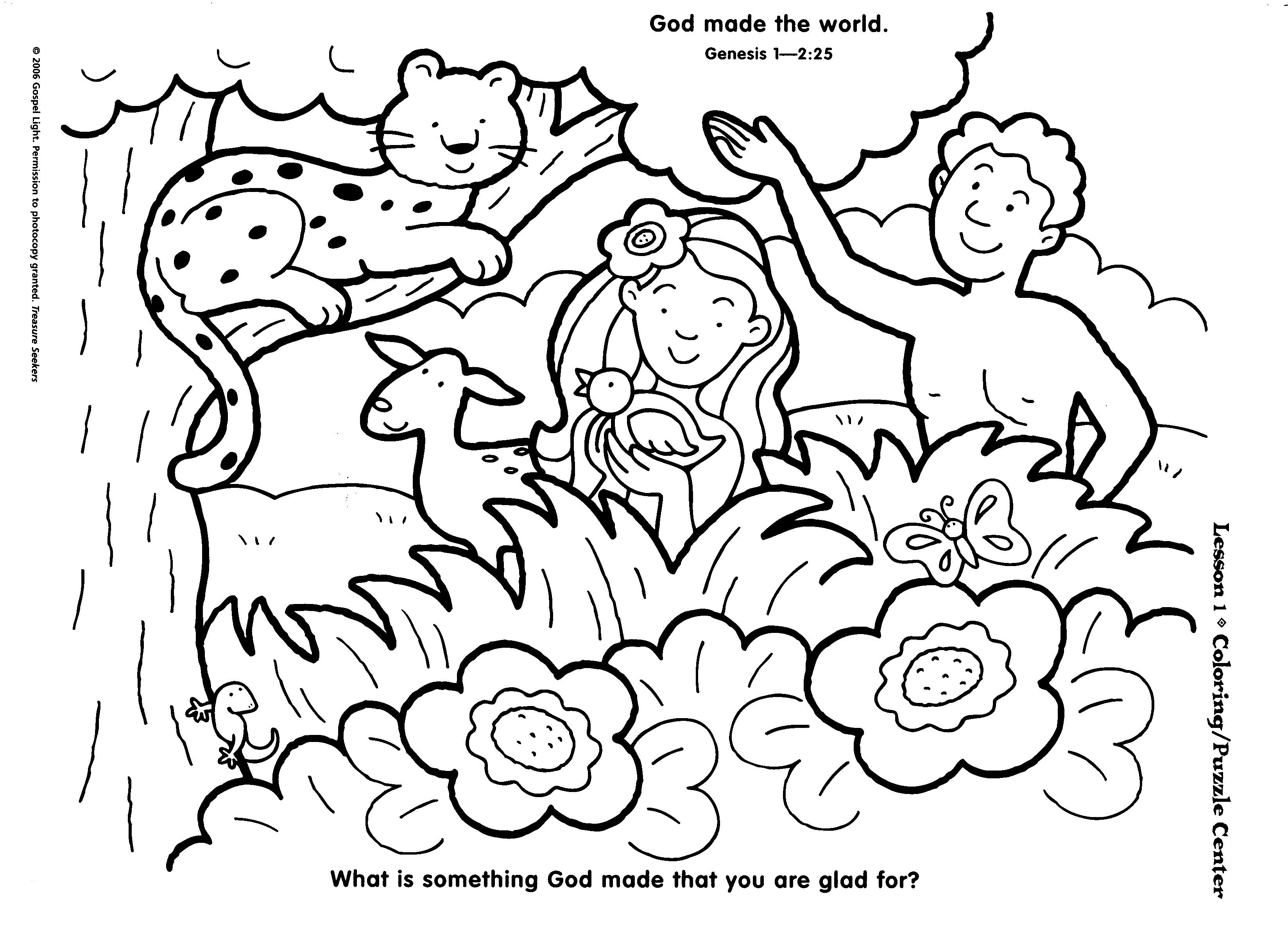 Free Printable Coloring Pages Sunday School: Sunday School Coloring - Free Printable Sunday School Coloring Pages