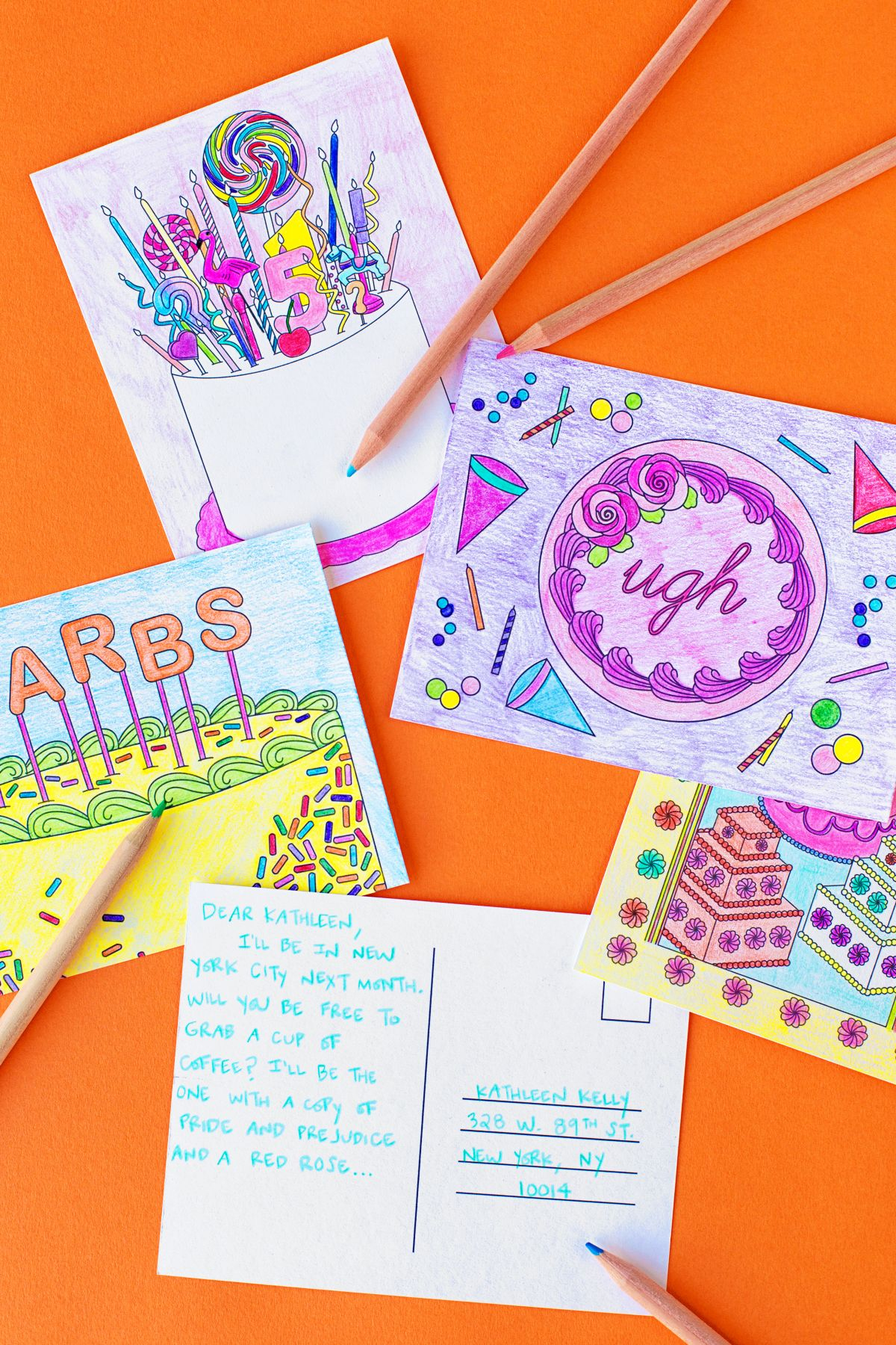 Free Printable Coloring Postcards | Cards And Invitations | Free - Free Printable Postcards