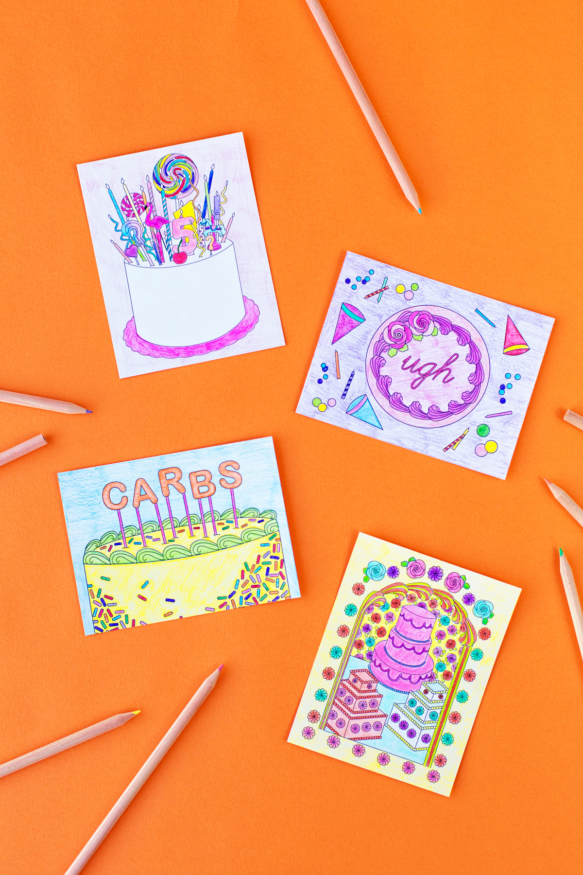 Free Printable Coloring Postcards - Studio Diy - Free Printable Postcards