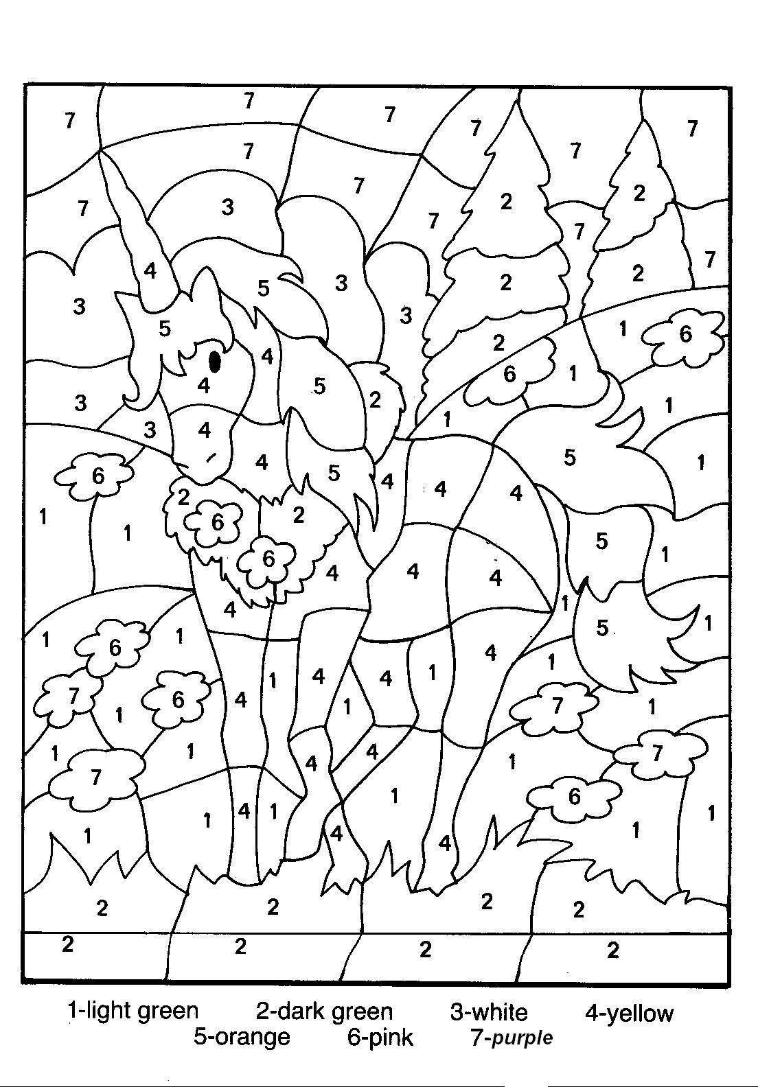 Free Printable Colornumber Coloring Pages | Colornumber - Free Printable Color By Number For Adults