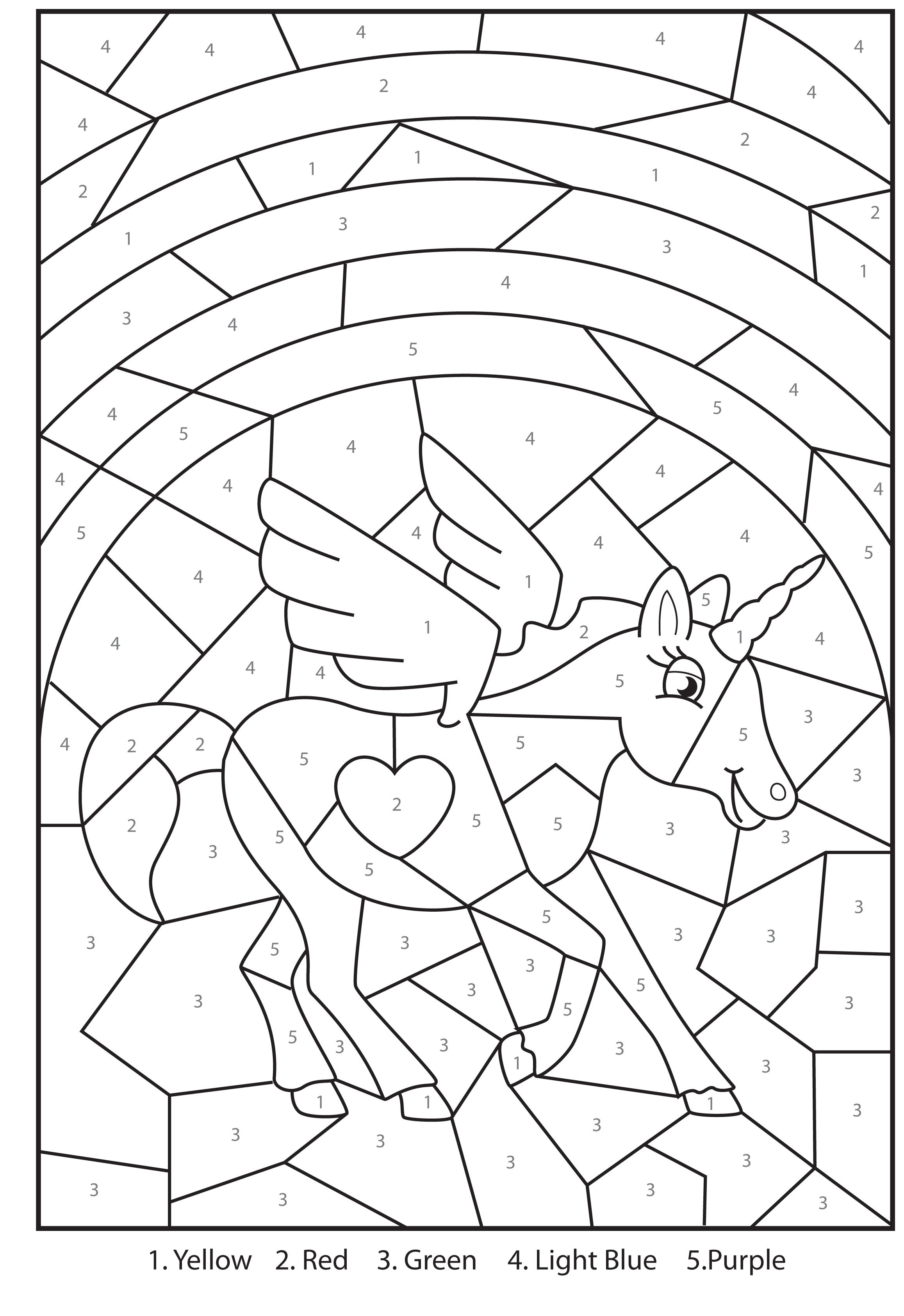 Free Printable Colournumbers Activity For Kids | For The Girls - Free Printable Christmas Color By Number Coloring Pages