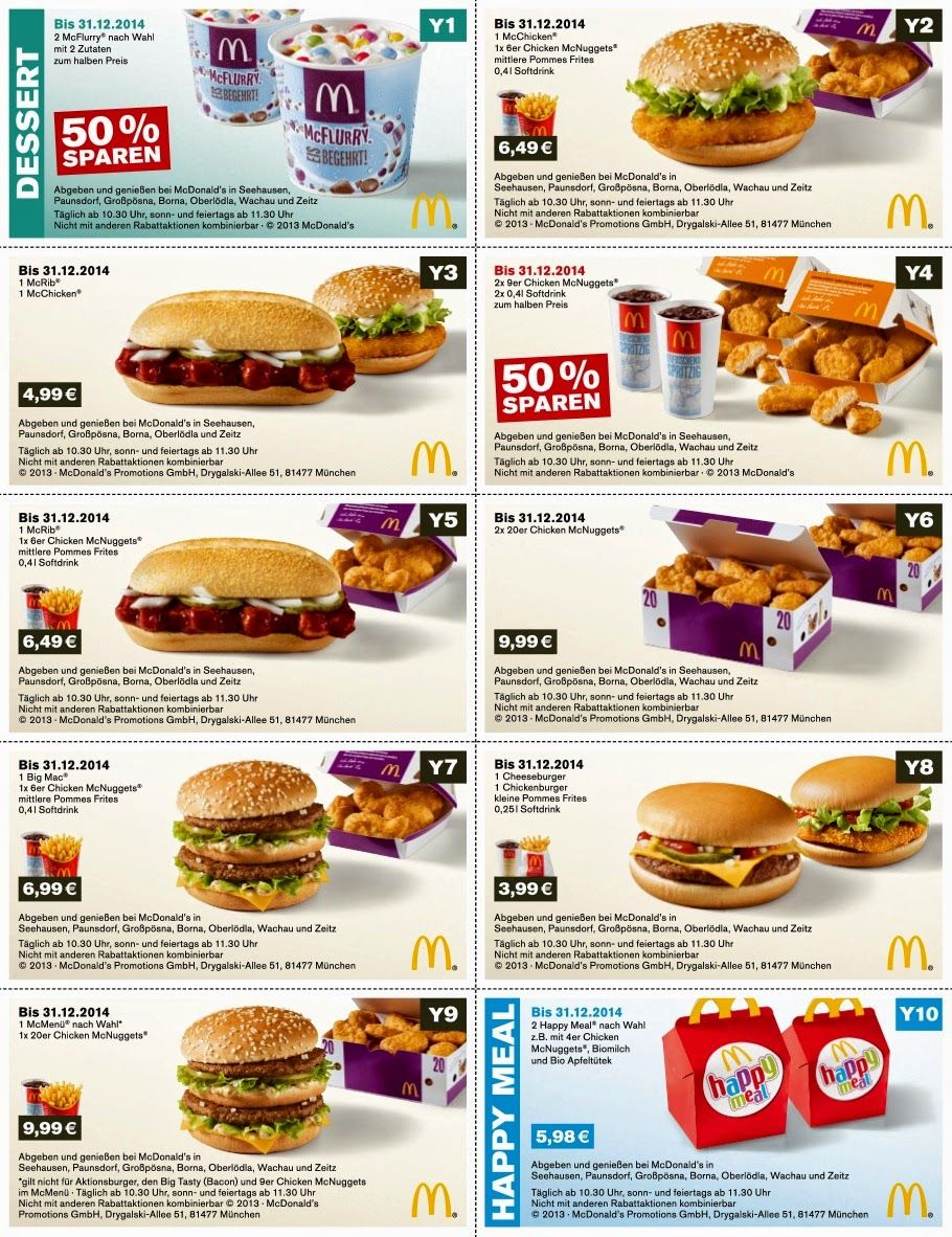 Free Printable Coupons: Mcdonalds Coupons | Tips | Pinterest - Free Mcdonalds Smoothie Printable Coupon