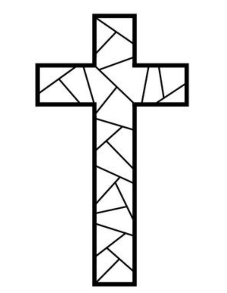 Free Printable Cross Coloring Pages   Coloring Pages   Stain Glass - Free Printable Cross
