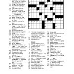 Free Printable Crossword Puzzles For Adults | Puzzles Word Searches   Free Printable Crossword Puzzles Medium Difficulty