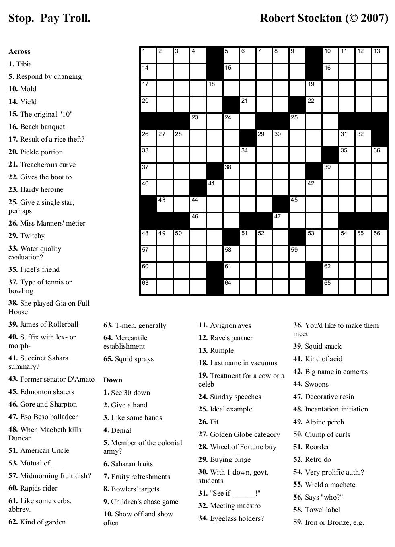Free Printable Crosswords | Bestprintable231118 - Free Printable Crosswords