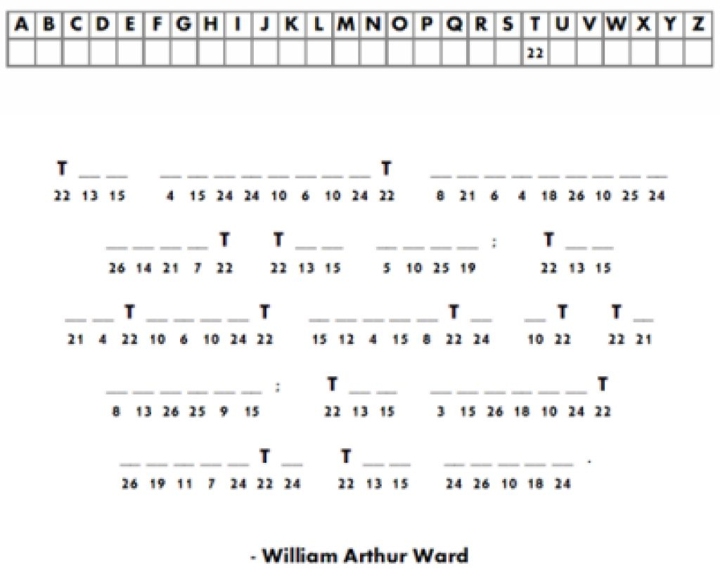 Free Printable Cryptograms | Free Printable - Free Printable Cryptograms Pdf