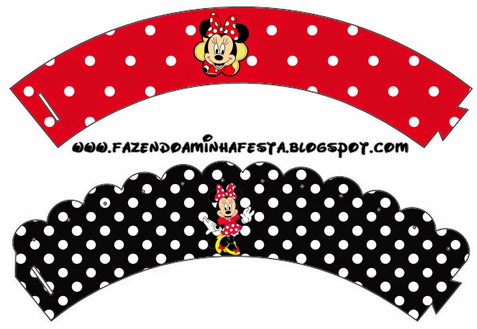 Free Printable Cupcake Wrappers.   C Cupcakes   Printables, Party - Free Printable Minnie Mouse Cupcake Wrappers