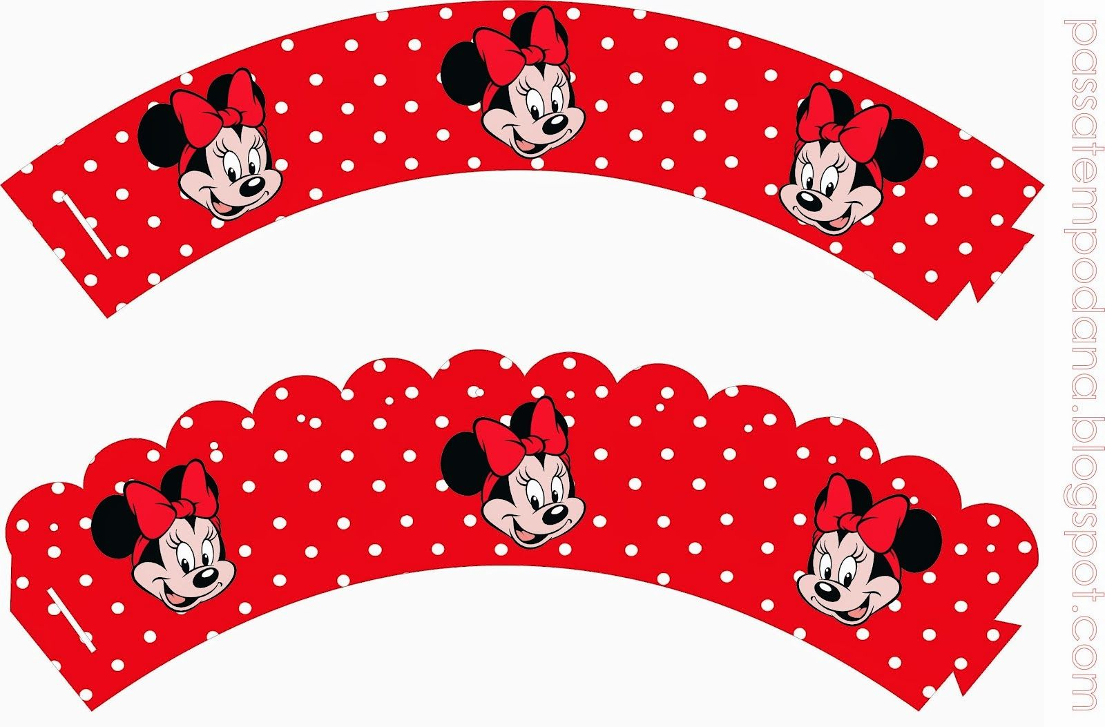 Free Printable Cupcake Wrappers.   Fiesta Minnie Mouse   Pinterest - Free Printable Minnie Mouse Cupcake Wrappers