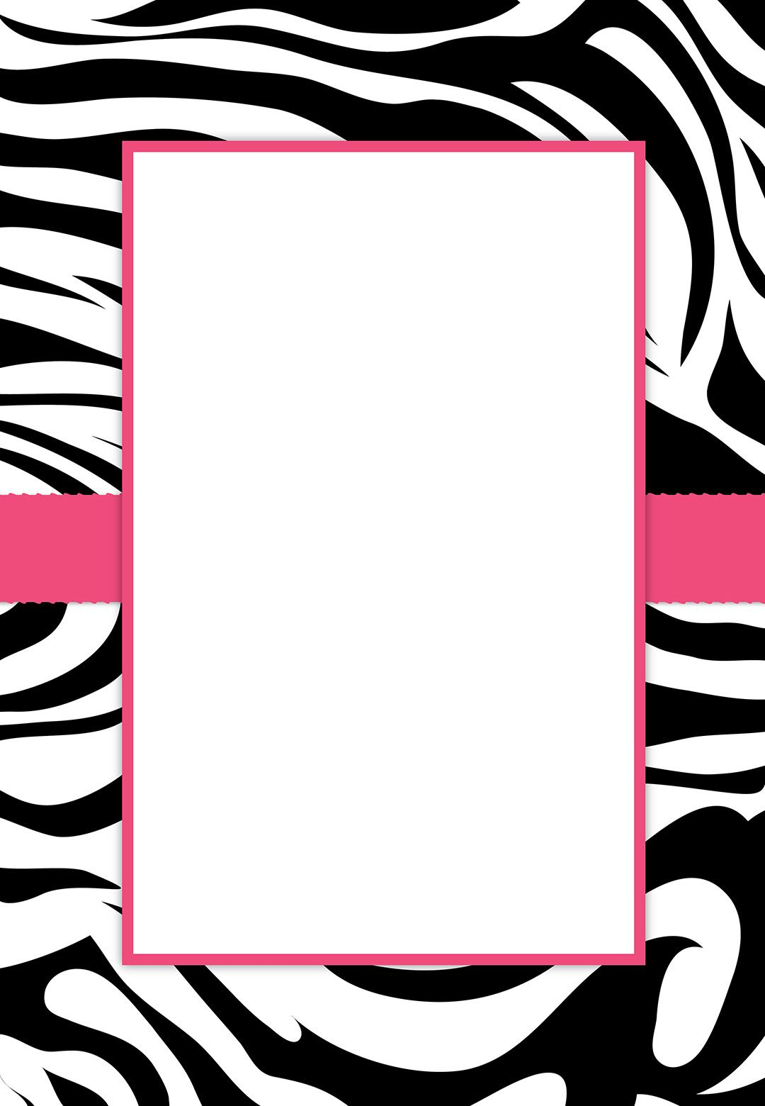 Free #printable Customizable Zebra Stripes #party Invitation | Party - Free Printable Zebra Print Birthday Invitations