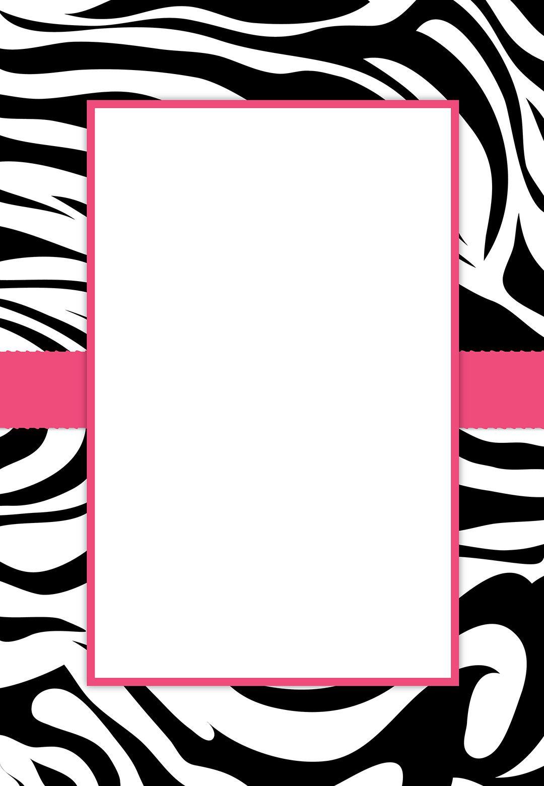 Free #printable Customizable Zebra Stripes #party Invitation   Party - Free Printable Zebra Print Birthday Invitations