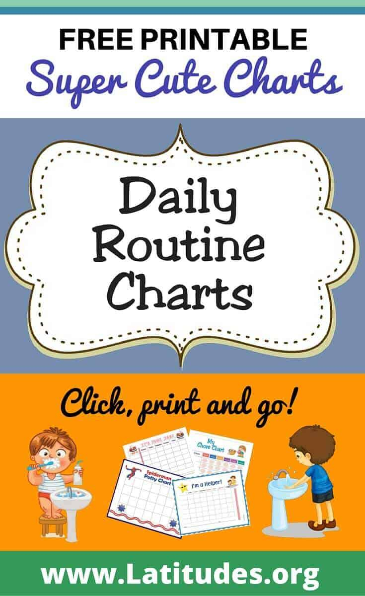 Free Printable Daily Routine Charts For Kids   Acn Latitudes - Children's Routine Charts Free Printable