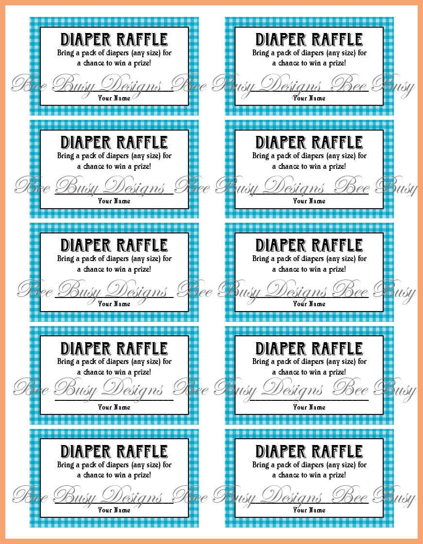 Free Printable Diaper Raffle Tickets For Baby Shower - Baby Shower Ideas - Free Printable Diaper Raffle Tickets For Boy Baby Shower