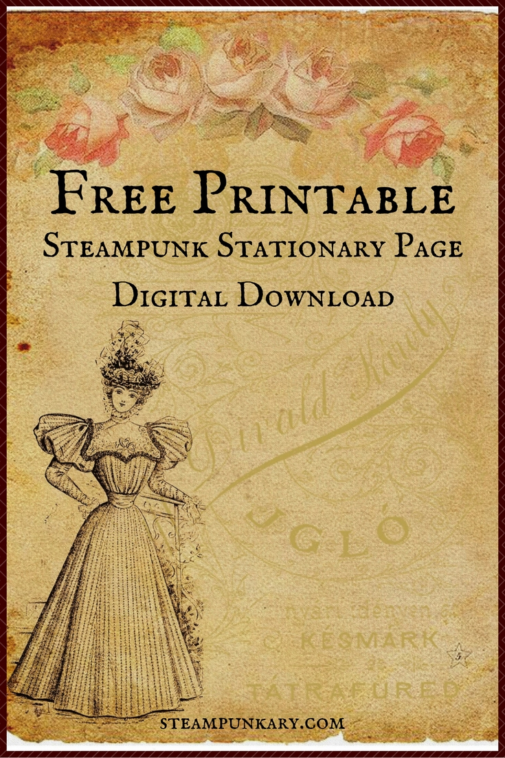 Free Printable Digital Download Stationary Page - Free Printable Stationery Paper