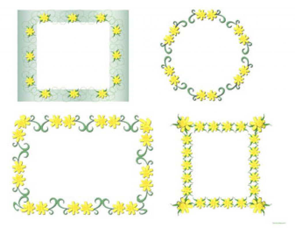 Free Printable, Digital, Scrapbook Template Pages, Easter, Floral - Free Printable Frames For Scrapbooking