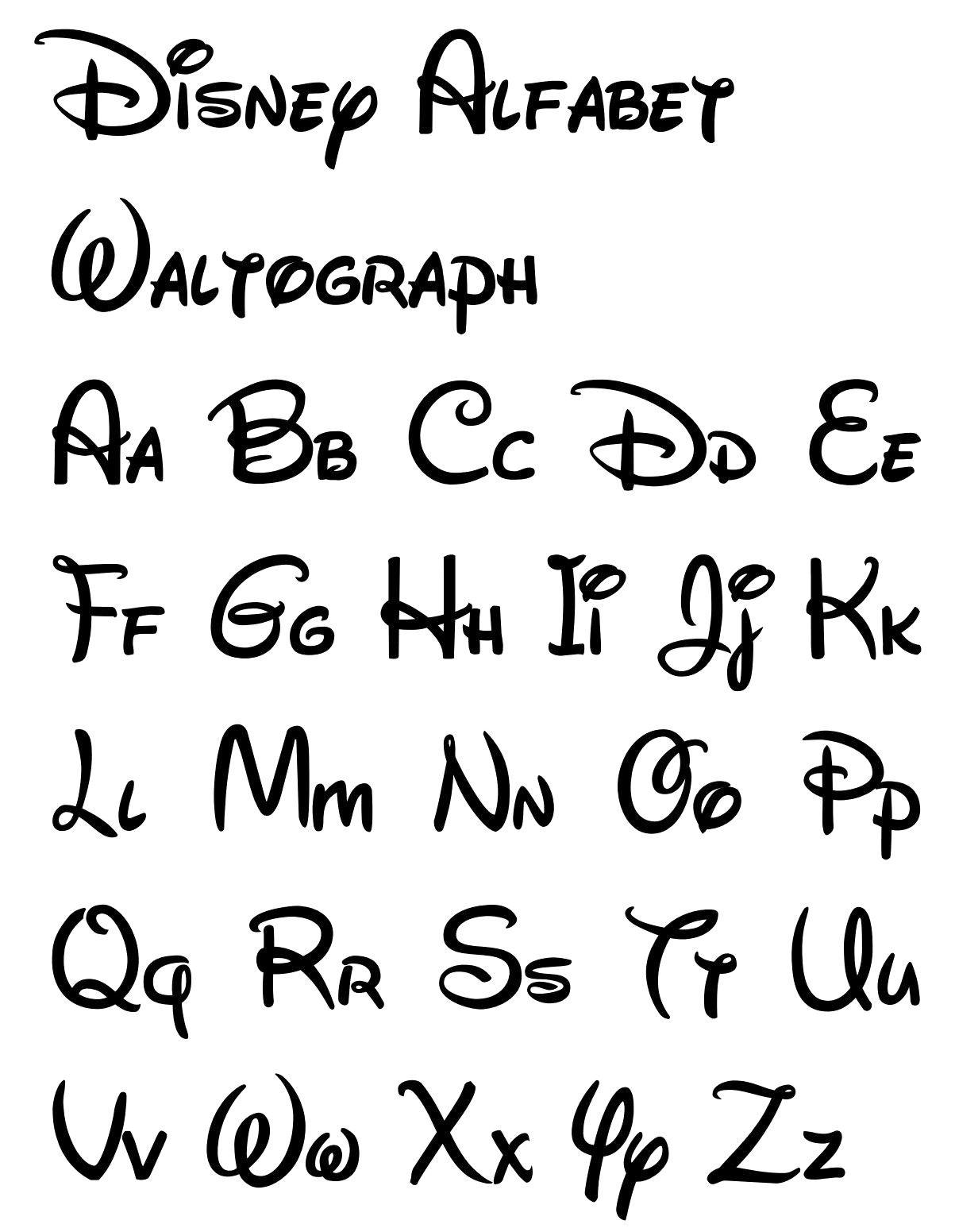 Free Printable Disney Letter Stencils   Disney   Pinterest - Free Printable Calligraphy Letter Stencils