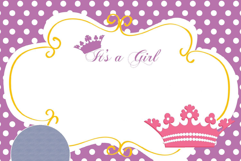 Free Printable Disney Princess Birthday Invitations Template For - Free Printable Princess Baby Shower Invitations
