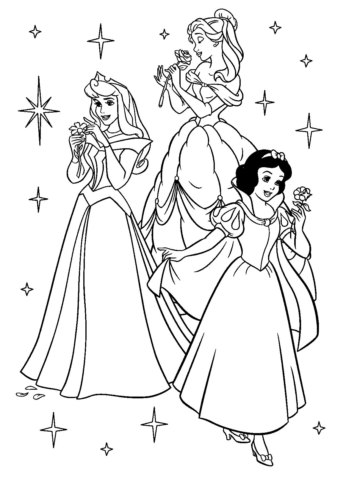 Free Printable Disney Princess Coloring Pages For Kids | Színezők - Free Printable Coloring Pages Of Disney Characters