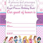 Free Printable Disney Princess Ticket Invitation | Printable – Free Printable Birthday Invitation Cards