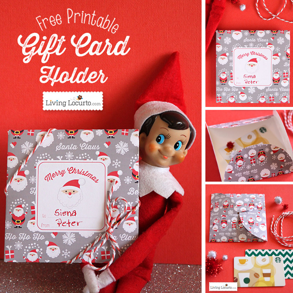 Free Printable Diy Christmas Gift Card Holder - Free Printable Christmas Gift Cards