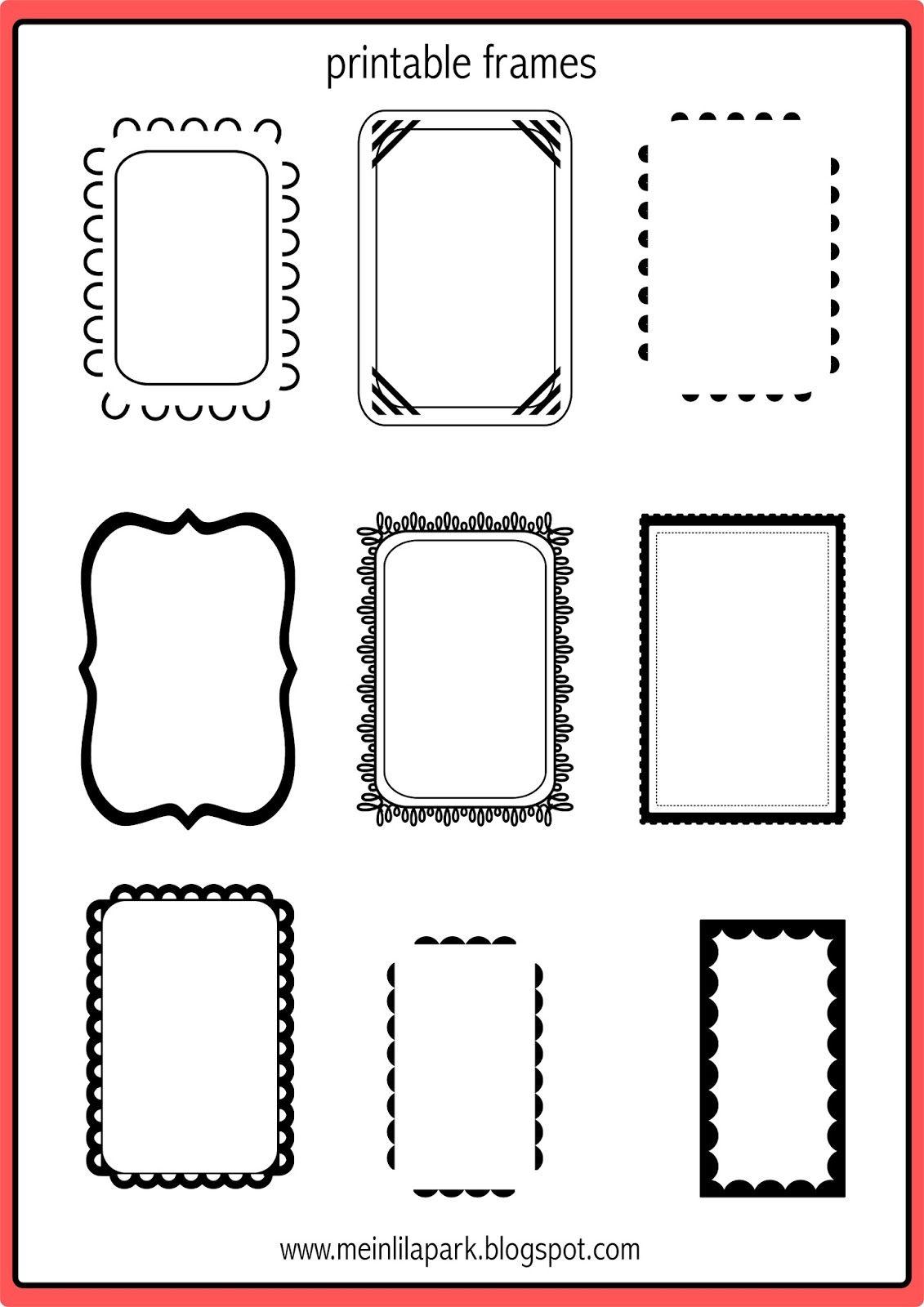 Free Printable Doodle Frames - Ausdruckbare Etiketten - Freebie - Free Printable Photo Frames