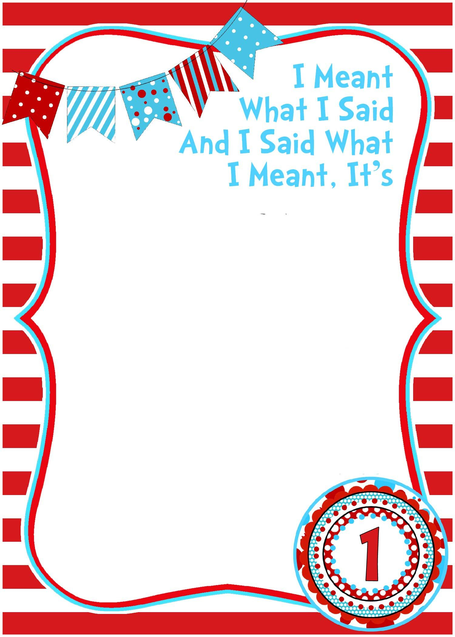 Free Printable Dr Seuss Birthday | Free Printable Birthday - Printable Invitation Templates Free Download