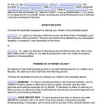 Free Printable Durable Power Of Attorney Forms   Free Printable Power Of Attorney Forms