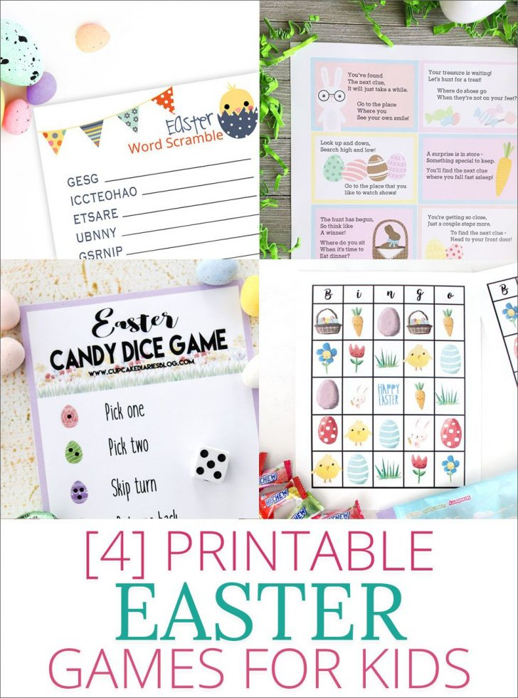 Easter Games For Adults Printable Free