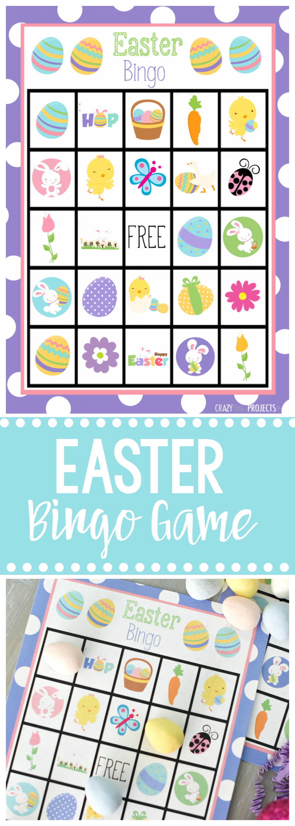 Free Printable Easter Bingo Game – Fun-Squared - Free Printable Religious Easter Bingo Cards