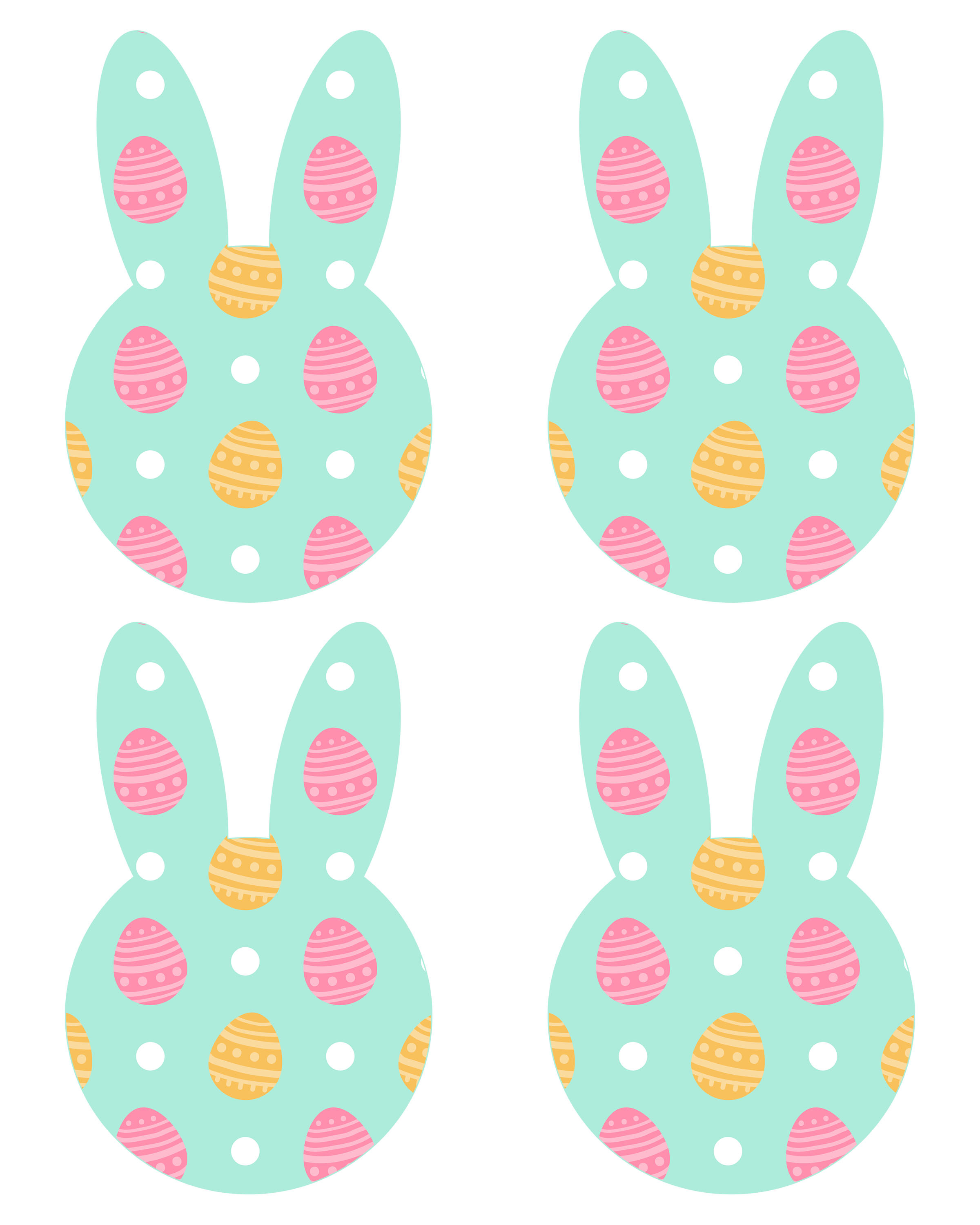 Free Printable Easter Bunny Banner - The Cottage Market - Free Printable Easter Bunting