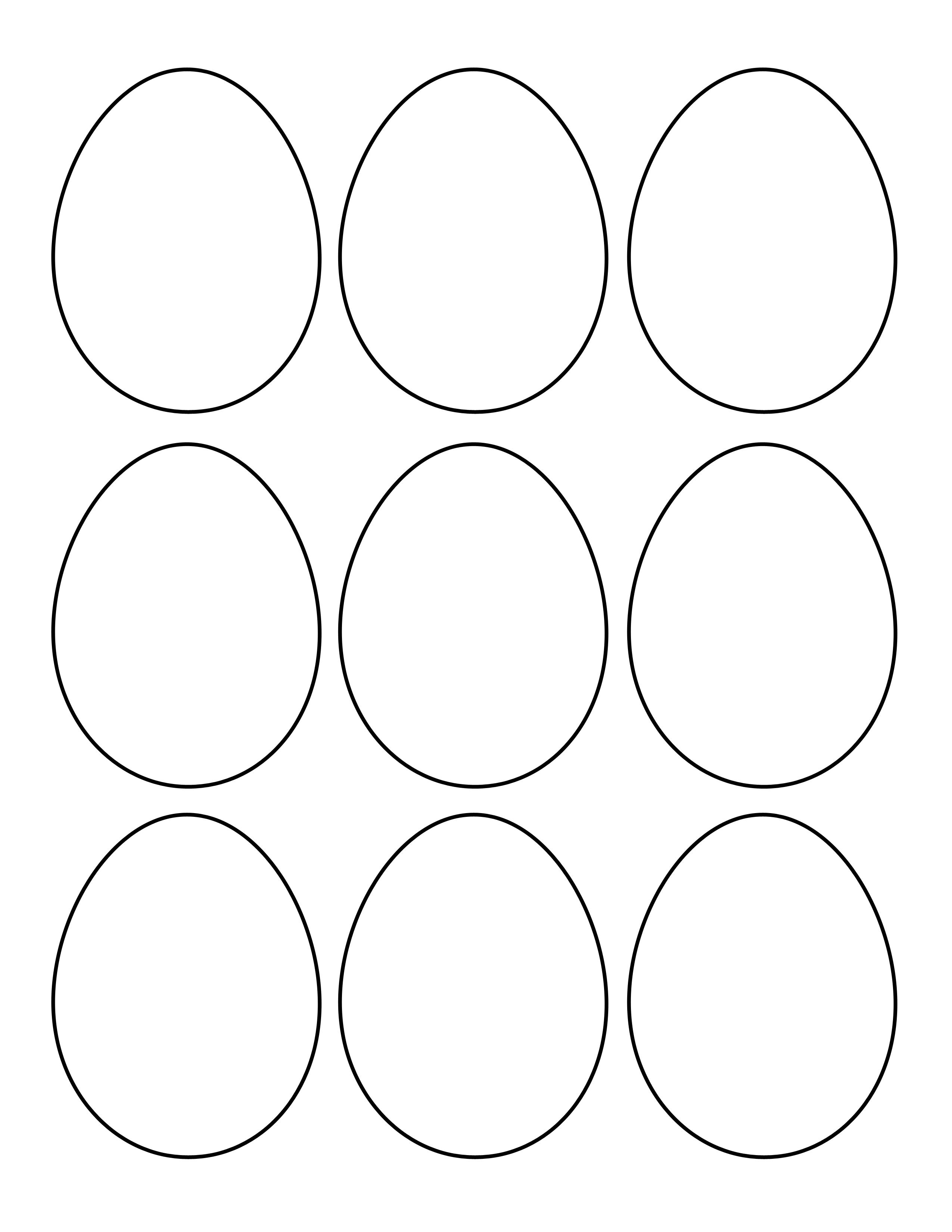 Free Printable Easter Egg Templates – Hd Easter Images - Easter Egg Template Free Printable
