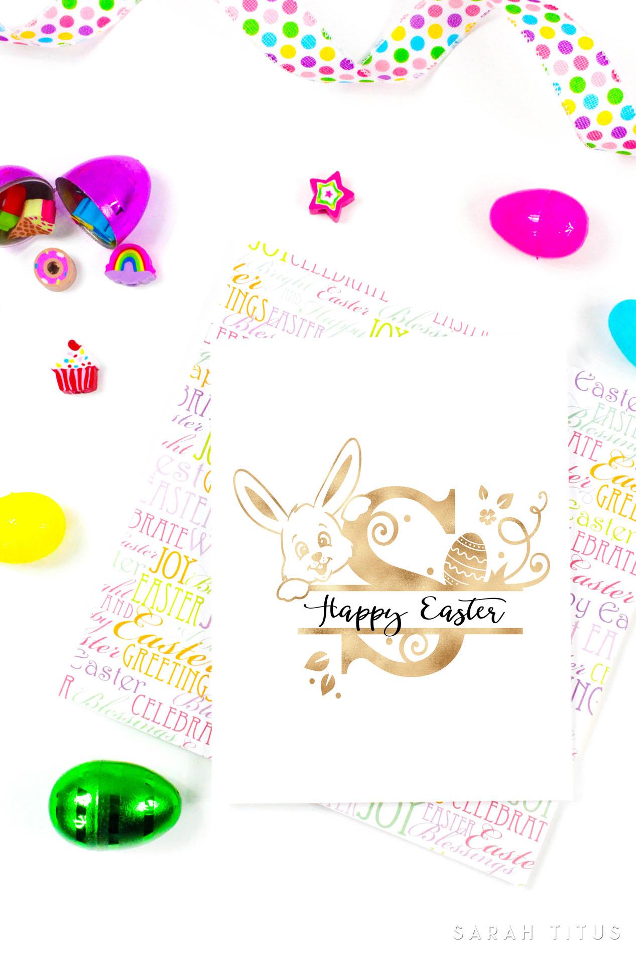 Free Printable Easter Monogram Signs - Sarah Titus - Free Printable Easter Decorations
