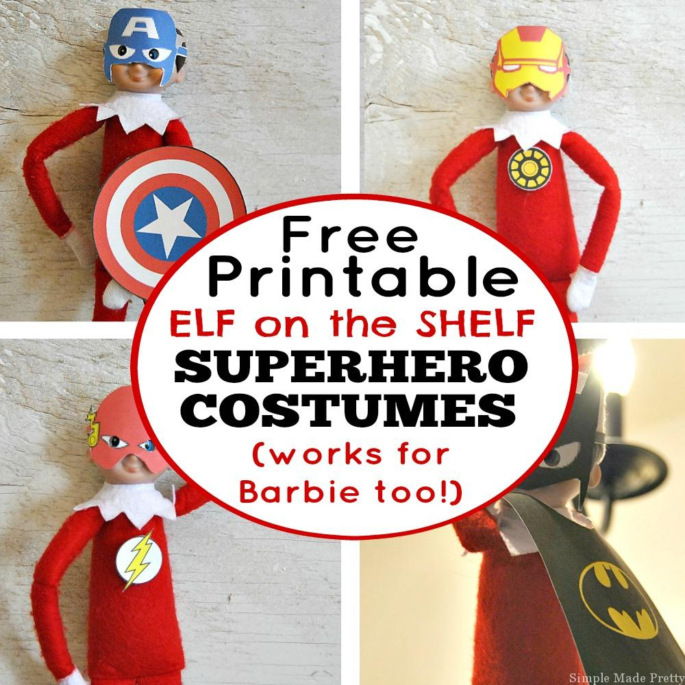 Free Printable Elf On The Shelf Superhero Costumes - Simple Made Pretty - Free Printable Elf On The Shelf Story