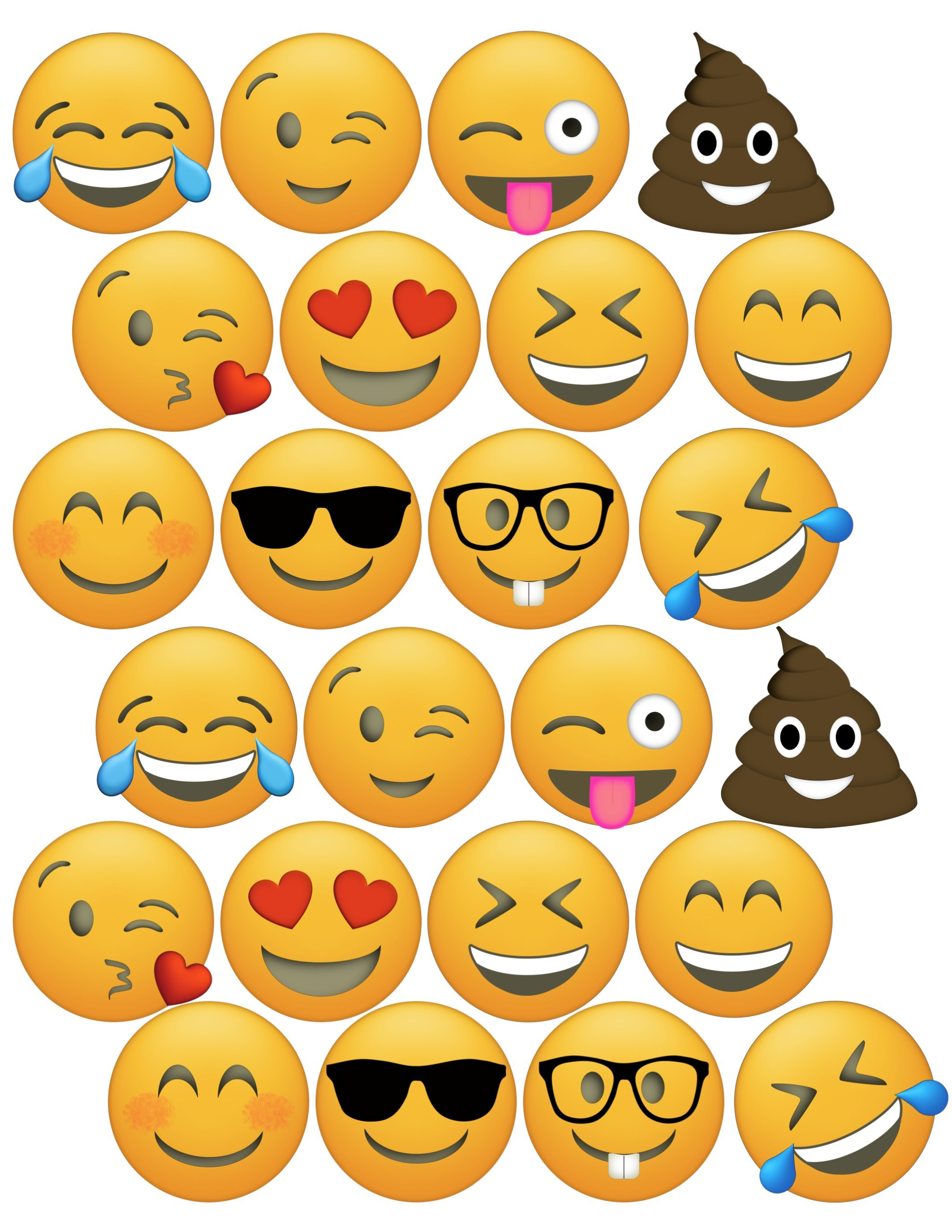 Free Printable Emoji Faces – Orek - Free Printable Emoji Faces