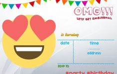 Free Printable Emoji Invitation | Free Printable Birthday - Emoji Invitations Printable Free