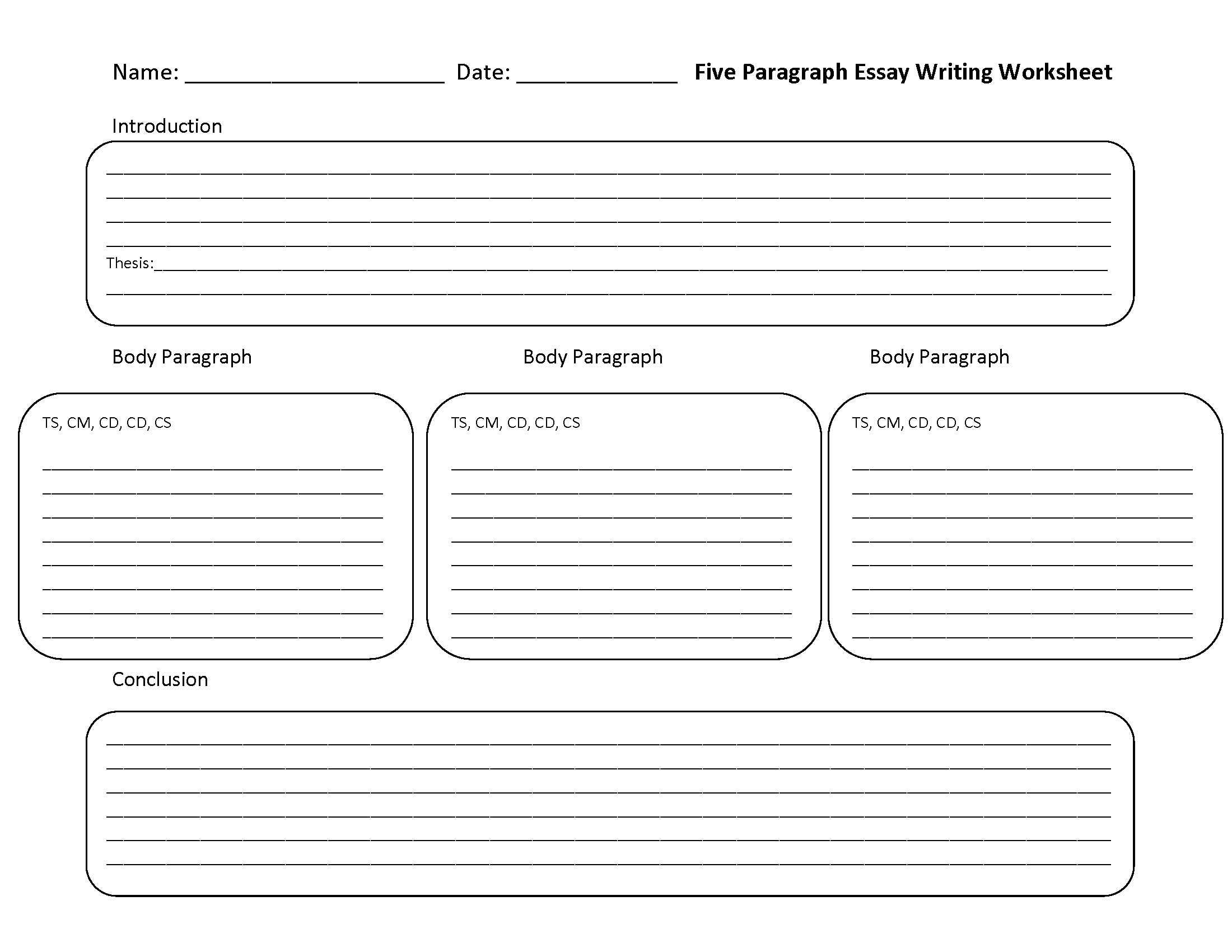 Free Printable Essay Writing Worksheets - Essay Writing Worksheets - Free Printable Writing Worksheets