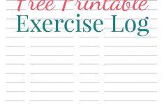 Free Printable Fitness Log