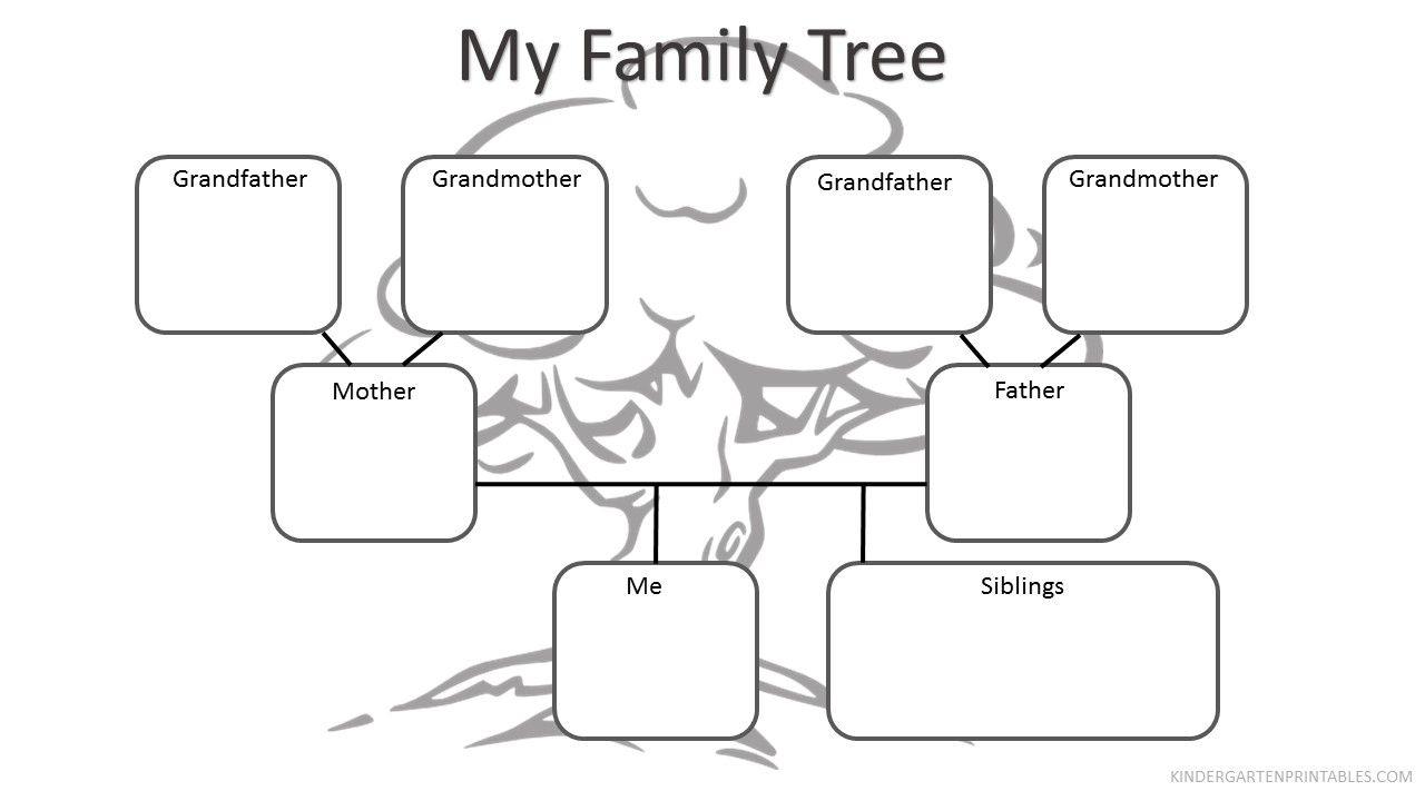 Free Printable Family Tree Worksheet Free Family Tree Worksheet - My Family Tree Free Printable Worksheets