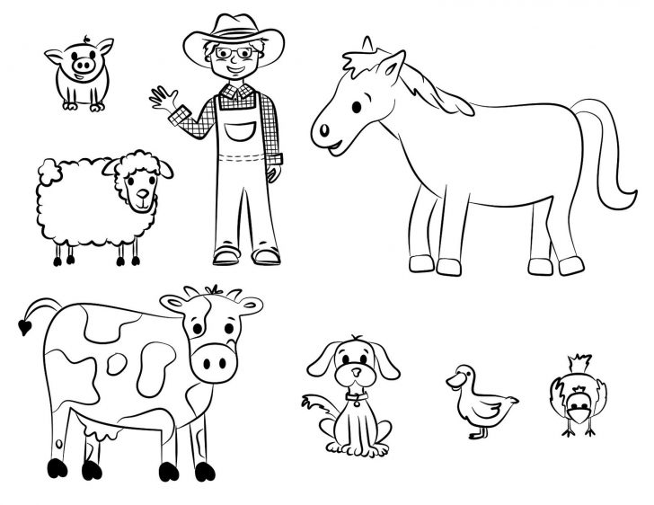 Free Printable Farm Animal Cutouts