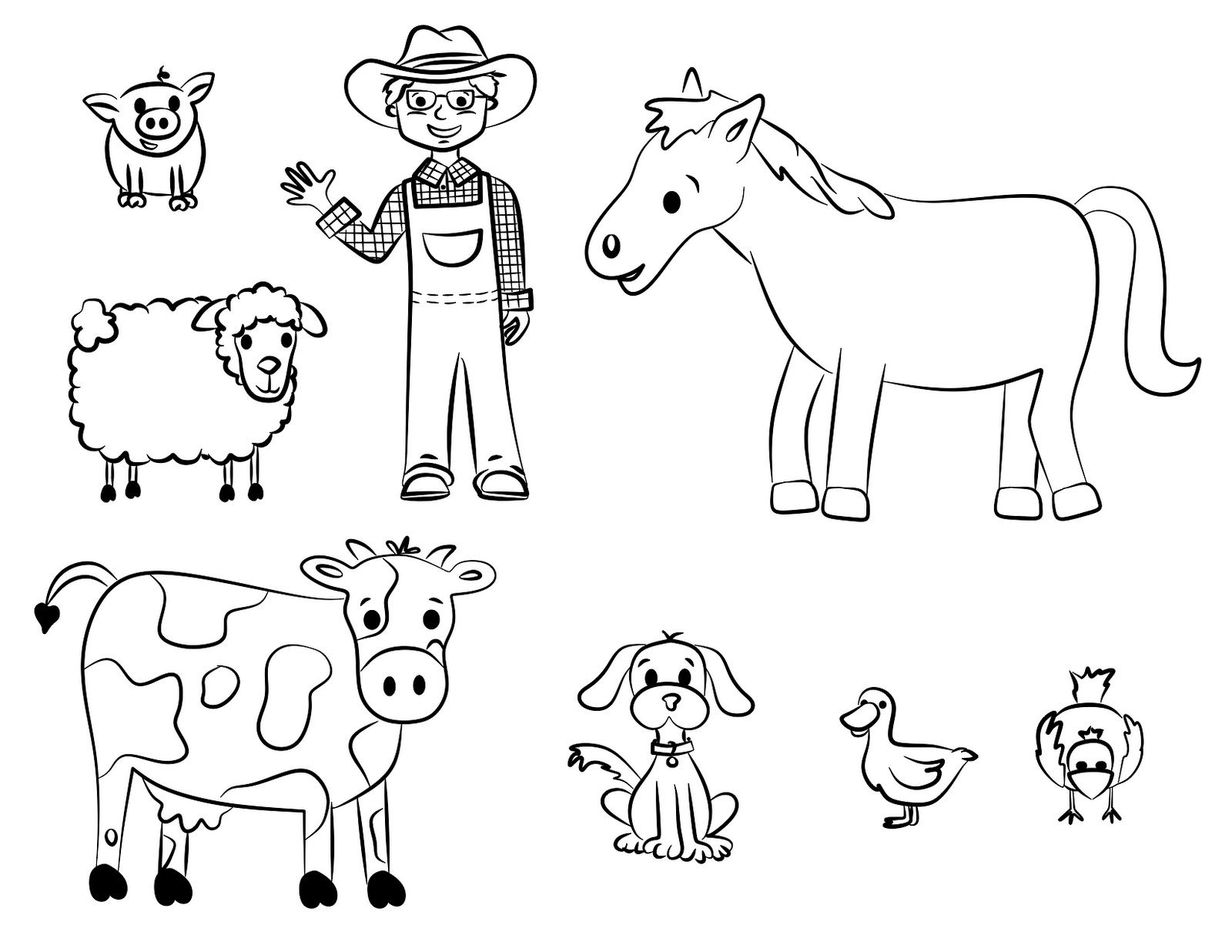 Free Printable Farm Animal Coloring Pages For Kids | June | Farm - Free Printable Farm Animal Cutouts