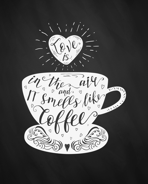 Free Printable Farmhouse Chalkboard Coffee Wall Art - The Cottage Market - Free Coffee Printable Art