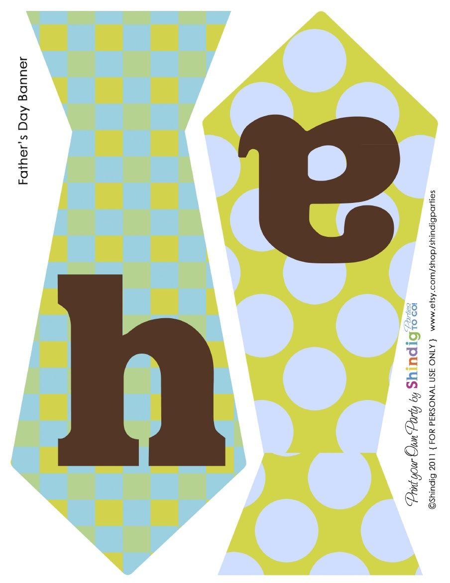 Free Printable: Fathers Day Banner | Spring Holidays | Pinterest - Free Printable Fathers Day Banners