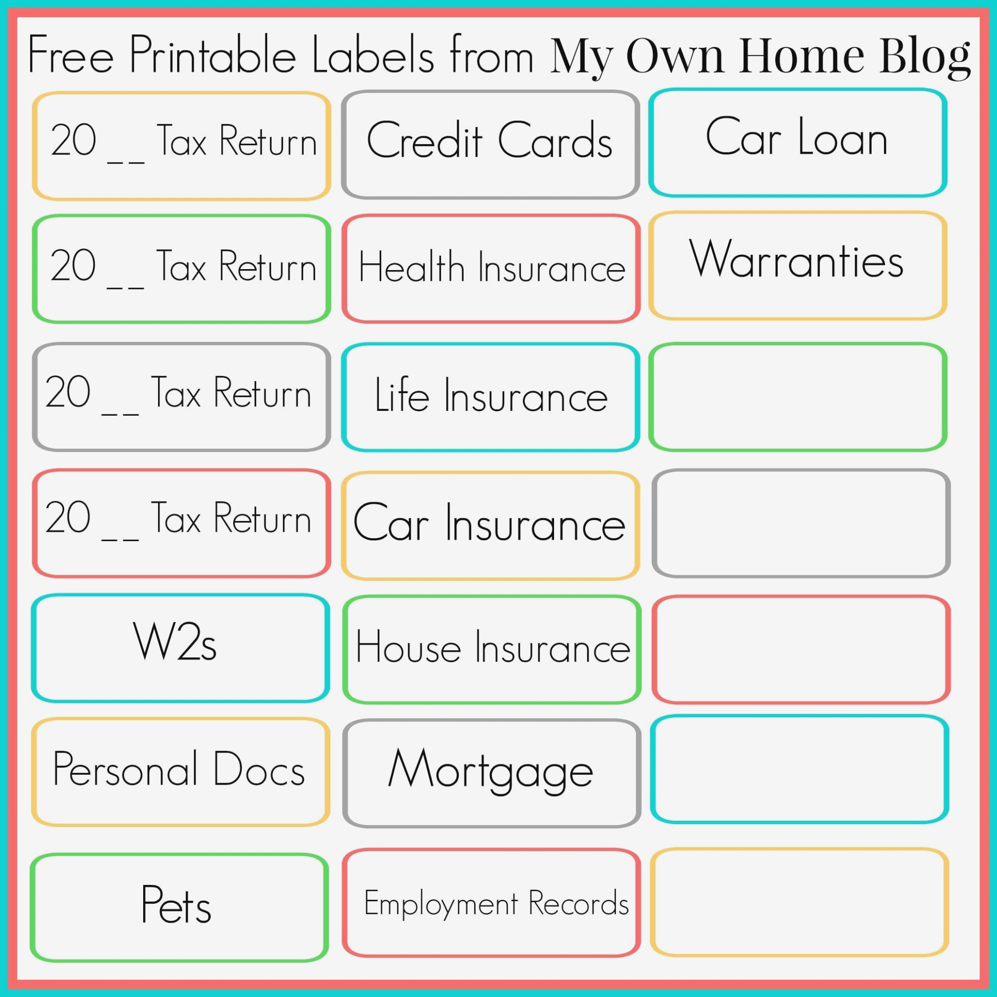 Free Printable File Folder Labels – Canre.klonec – Label Maker Ideas - Free Printable File Folder Labels